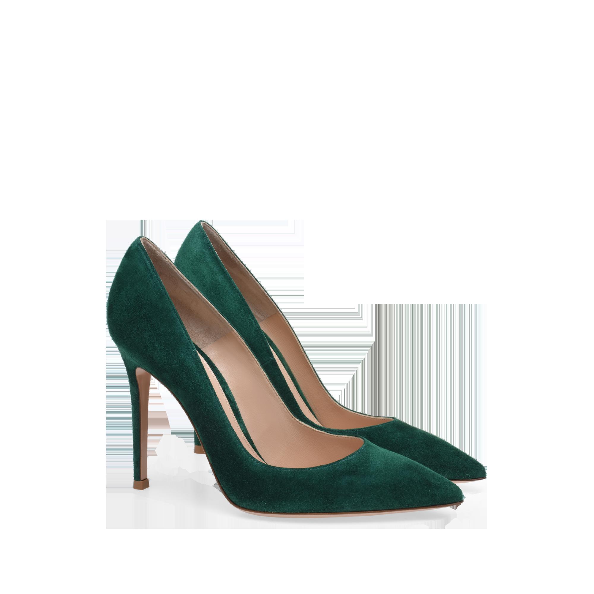 Gianvito 105 Signatures Woman Gianvito Rossi Green Heels Green High Heels Green Suede Heel