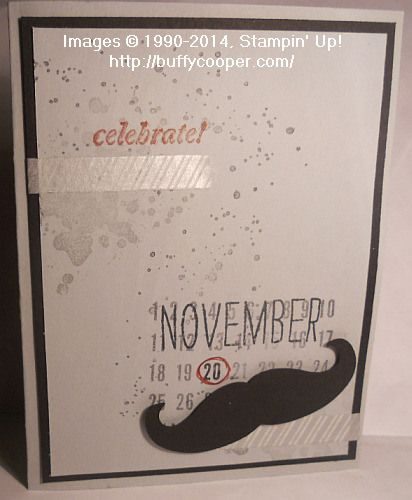 Mustache Birthday Card Plxsu Stampinup The Man Cave