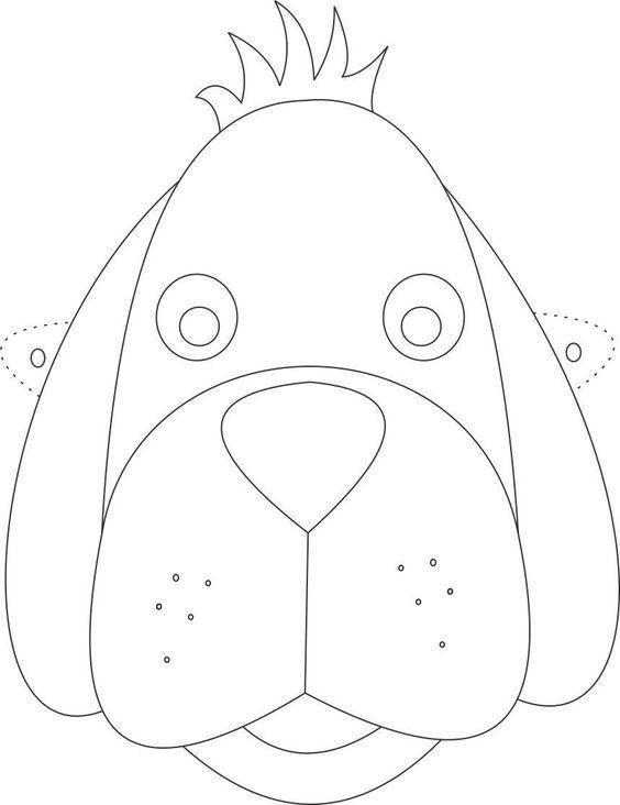 Oyuncak Köpek Maskesi şablonu Okul öncesi Pinterest Dog Mask