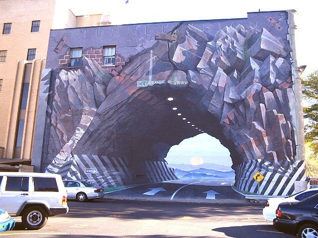 Tunnel Vision A Mural By Blue Sky A Columbia South Carolina