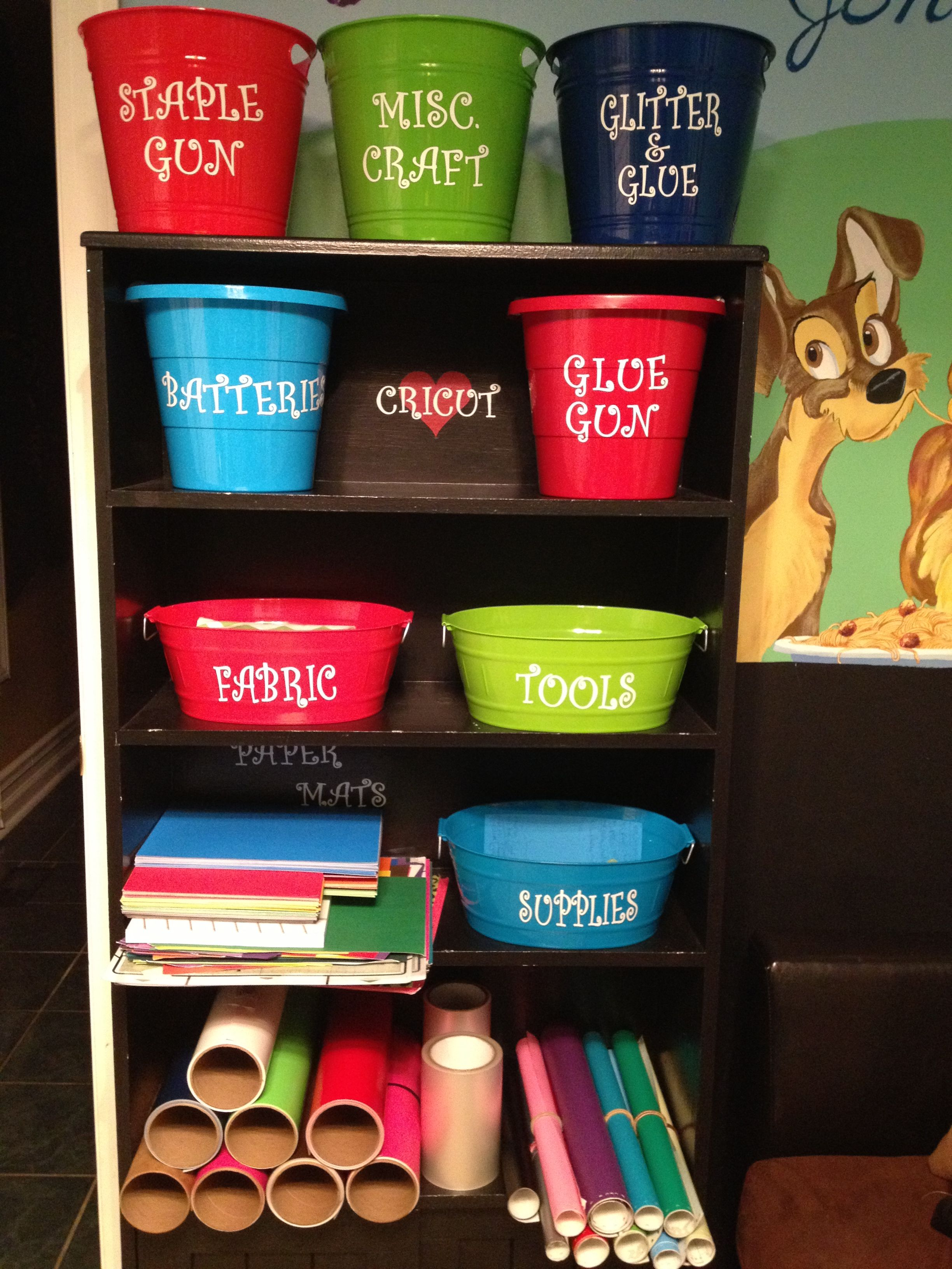 Craft Organization From Dollar Tree Contains Personalized