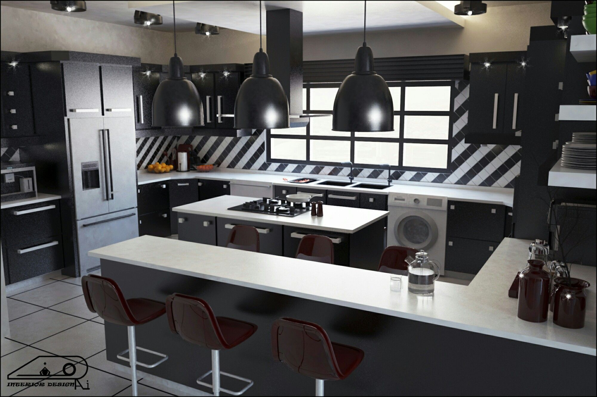 Kitchen Design... P1 Software: 3d Max, V Ray, Photoshop
