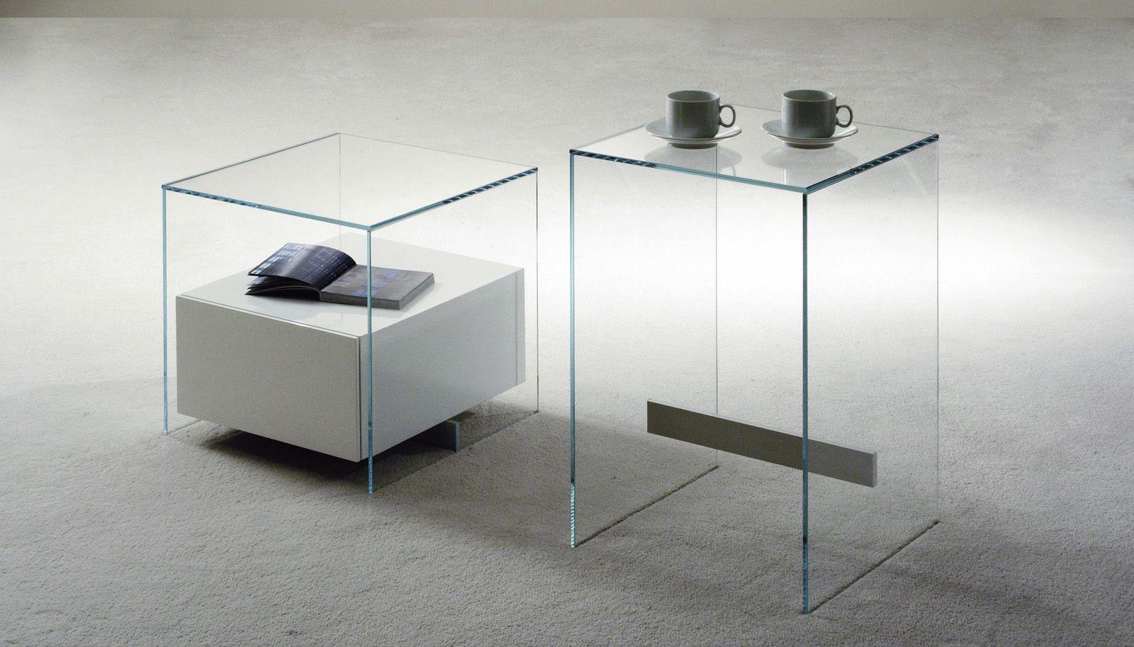 Moderner Nachttisch Aus Glas Kit By Pinuccio Borgonovo Former