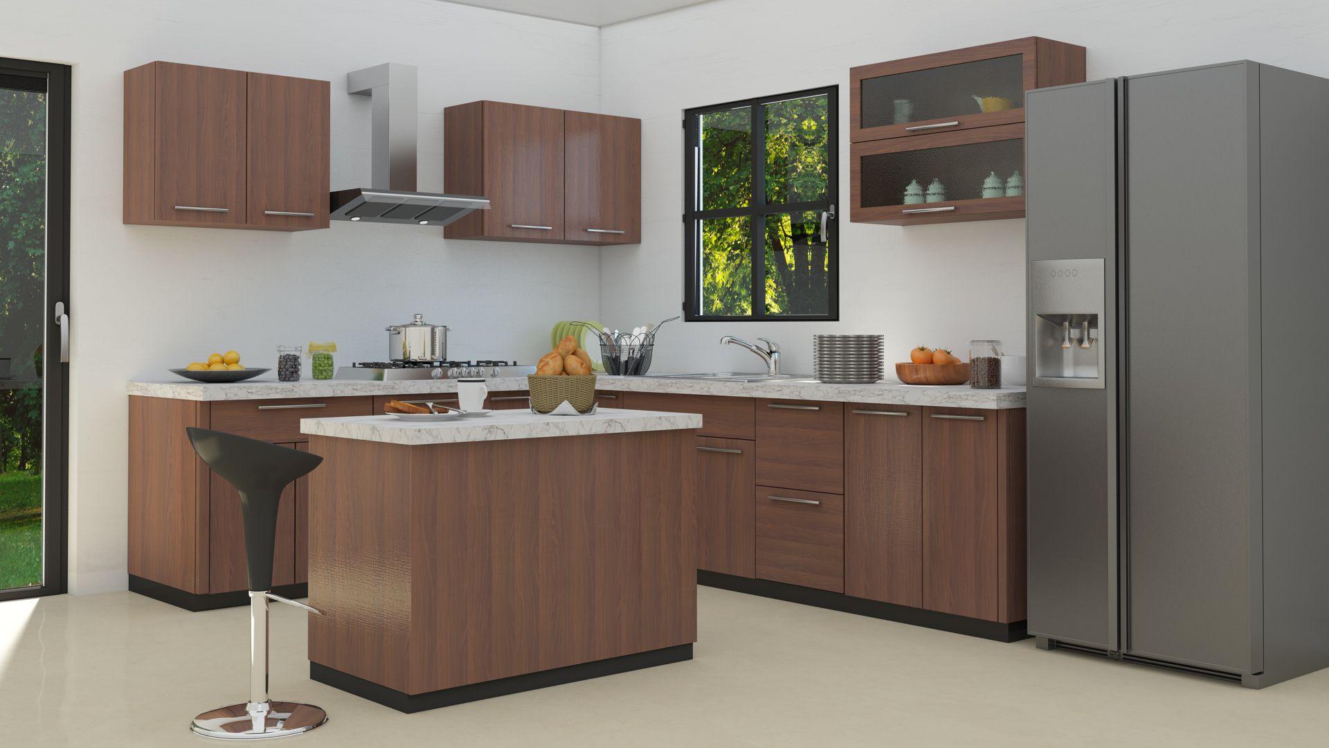 L Shaped Modular Kitchen Designs Kitchen Cabinet Design