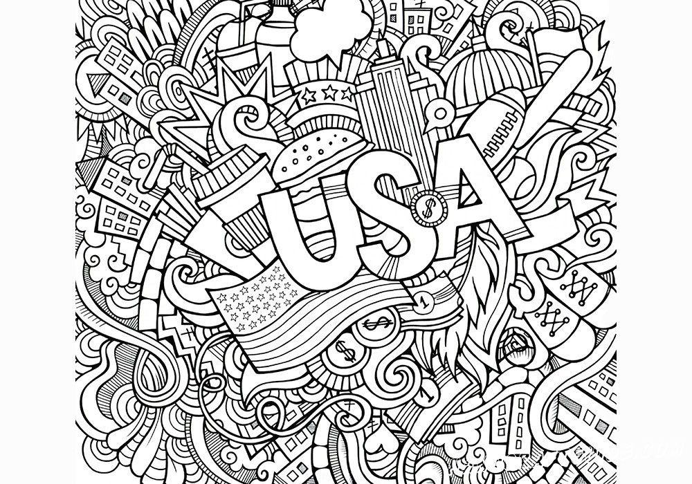 Раскраски Антистресс для взрослых США в 2020 г | Раскраски ...