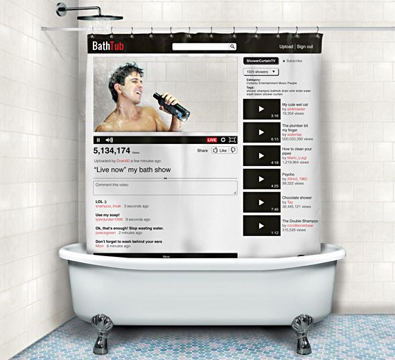 A Custom Youtube Channel Shower Curtain With Images Bathtub Shower Bathroom Shower Curtains Shower Bath