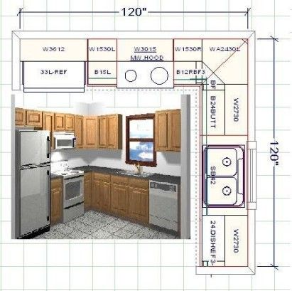 Create Your Own Kitchen With A Kitchen Design Tool | Design My Kitchen, Kitchen Layout Plans, Kitchen Cabinet Layout