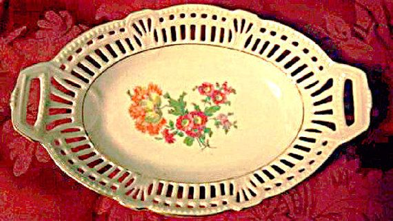 Lemp Pabst Estate (Louise) Stunning WW11 Vintage Collectible German Dresden Dish Only $44.99 ! Even nicer in person ! Beautiful heirloom piece.