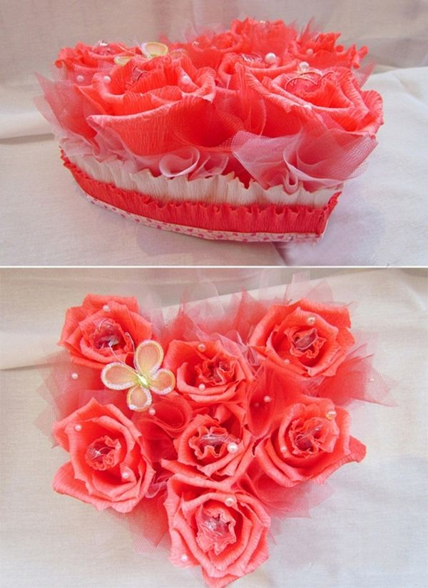 Valentines Day Gift Diy Idea Crepe Paper Chocolate Bouquet Paper