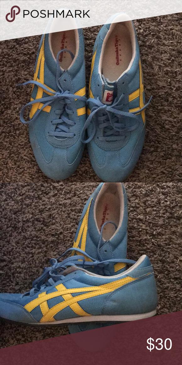 Asics Tiger Flat Tennis Shoes   Shoes, Tennis shoes, Blue shoes