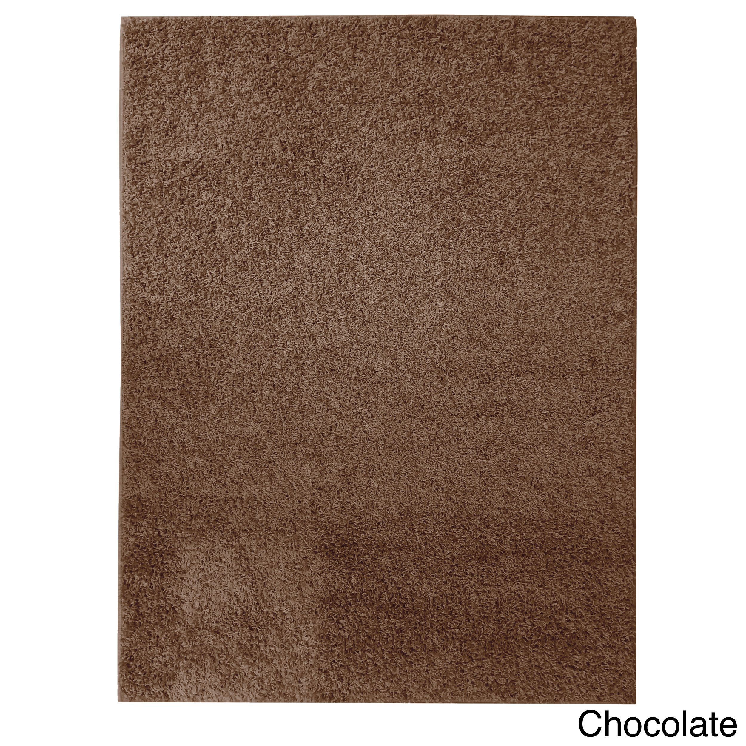 Soft Settings Shag Rug (7' x 10') (Chocolate), Brown, Size 7' x 10' (Polyester, Solid)
