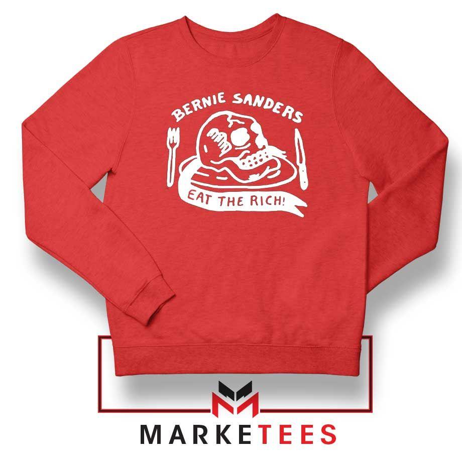 Bernie Sanders Eat The Rich Sweatshirt Politics Sweaters S 2xl Apparel Sweatshirts Graphic Crew Neck Sweatshirts Warm Sweatshirts