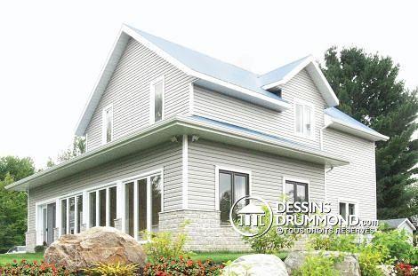 Rénovation W5953 - Après, aggrandissement, house, maison, white