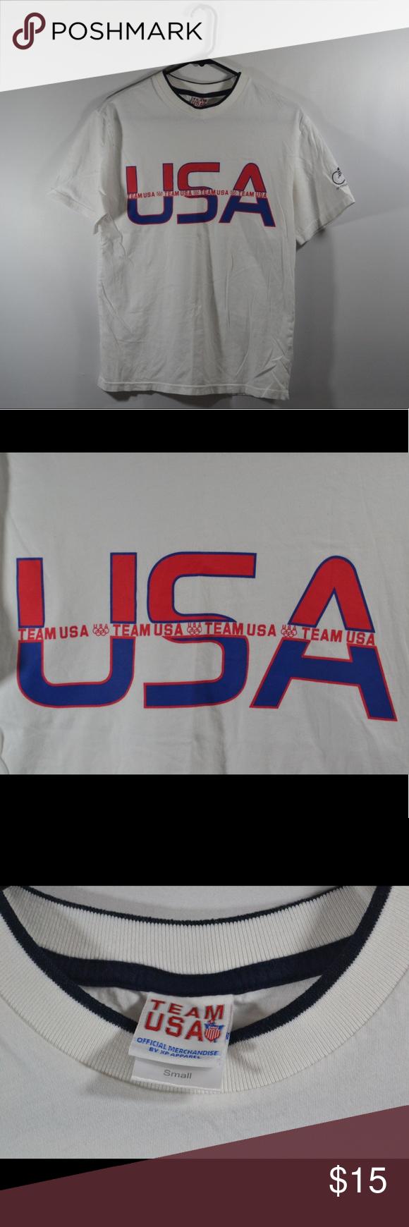 "Team USA Olympic Cycling T Shirt Team USA Olympic Cycling T Shirt. Measured in inches while laid flat. Chest:17.5"",Length:26"",Sleeve:8"" Tops Tees - Short Sleeve"