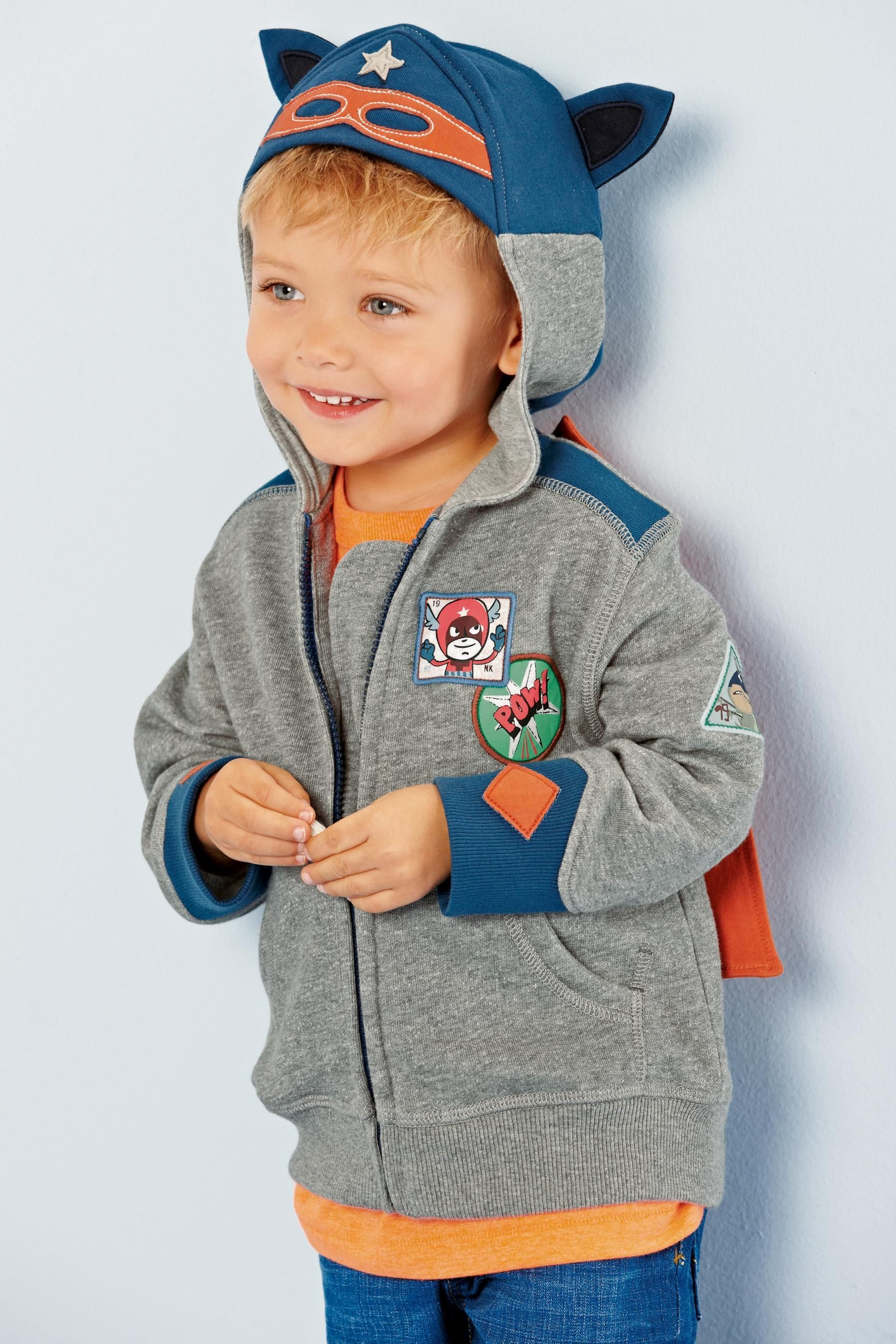 Buy Grey Superhero Sweat Top (3mths6yrs) from the Next UK