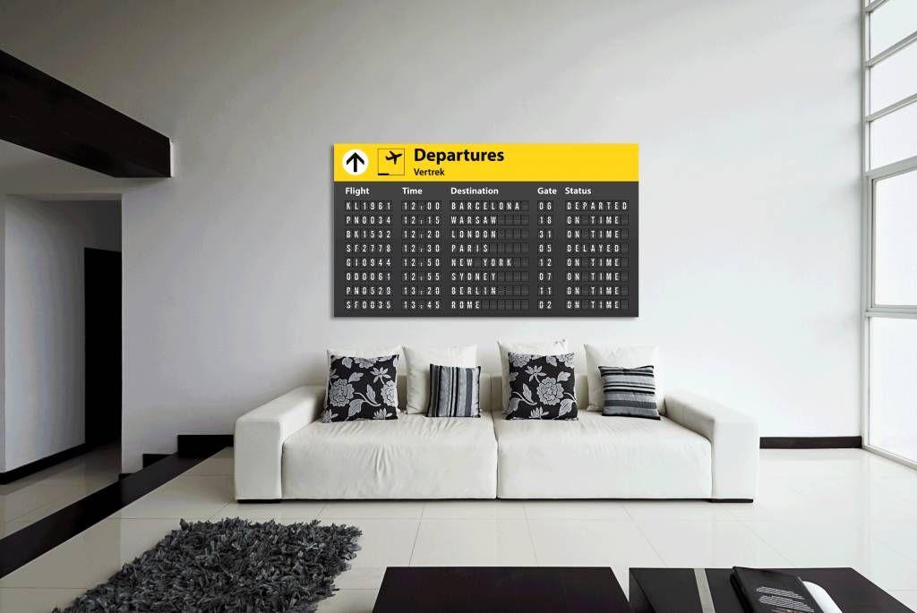 Welke vlucht ga jij halen? unieke muurdecoratie! www.airpart.nl