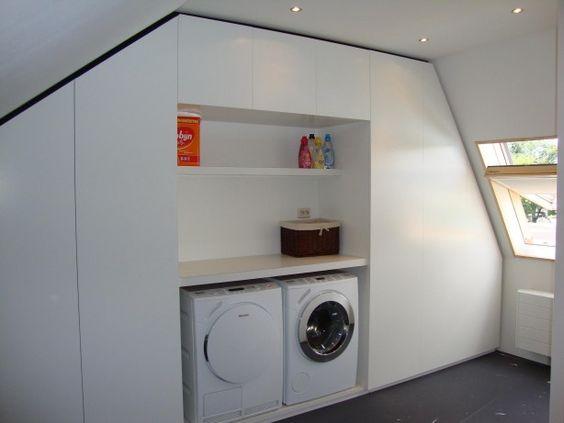 Ombouw cv inbouw wasmachine en droger waskotje