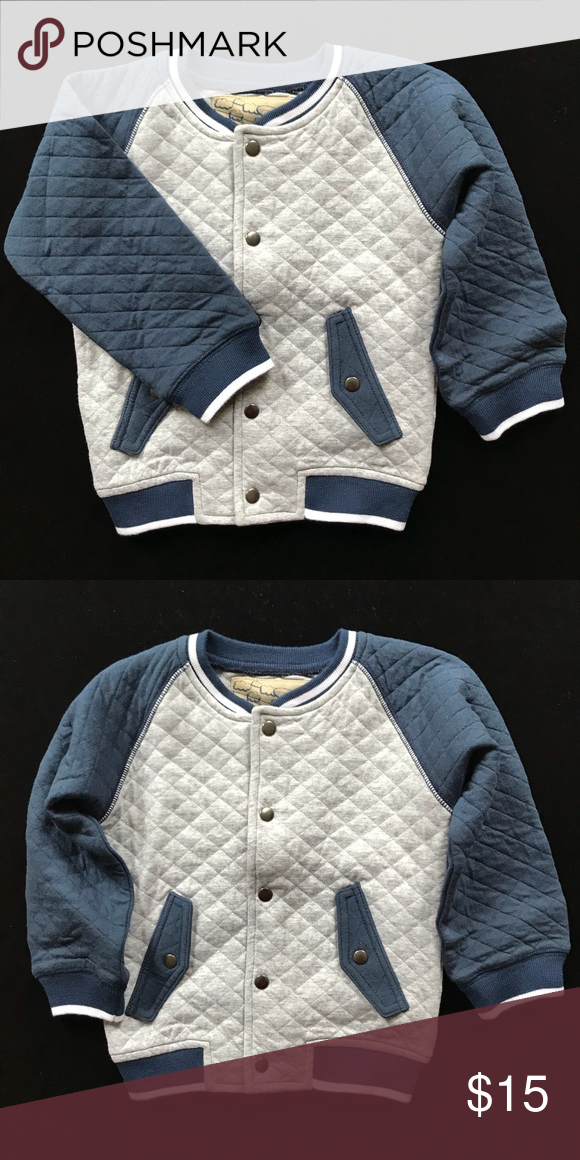 5be866c7759ce Boys Quilted Bomber Jacket Boys Trendy Cotton Quilted Bomber Color   Grey Navy Kapital K Jackets   Coats