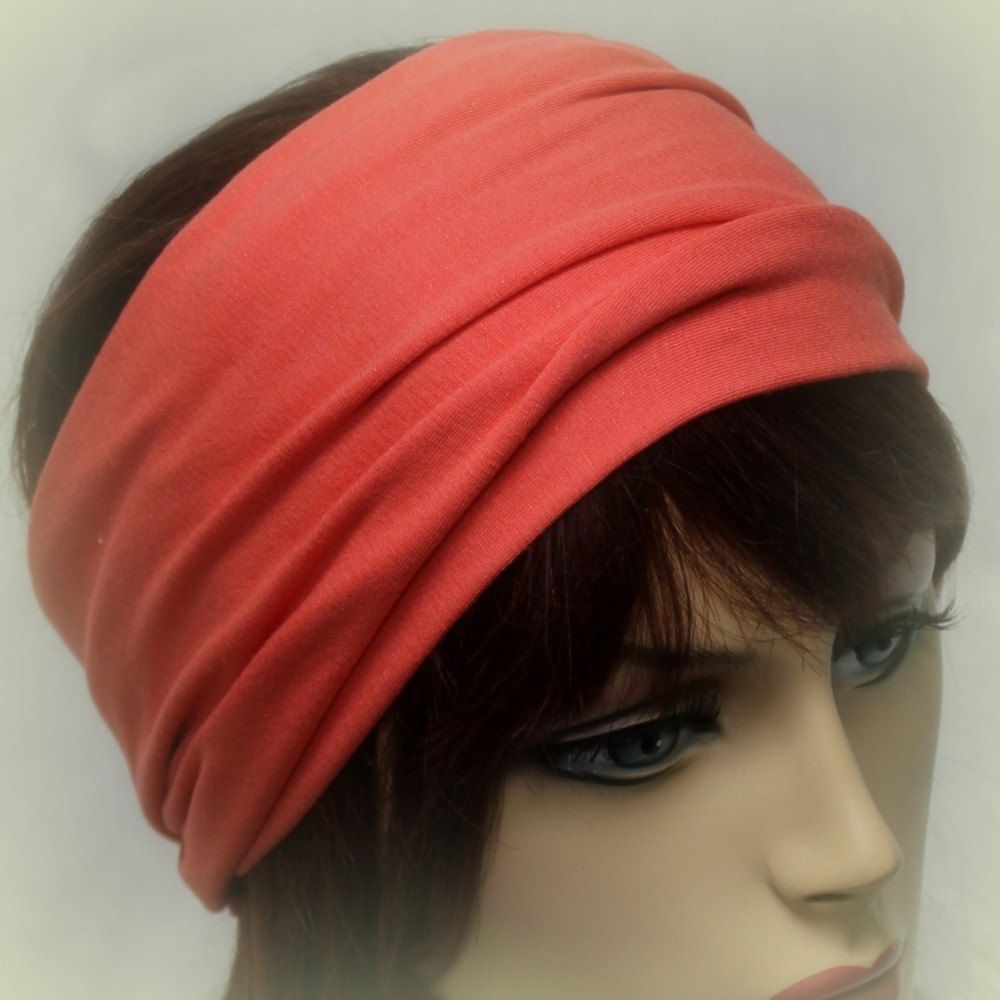 Wide Jersey Turban Headband, Several Colors