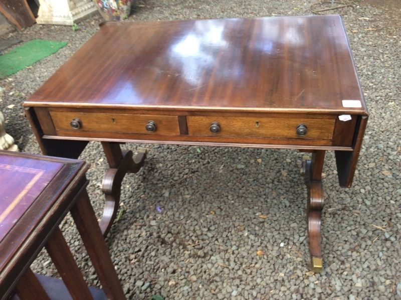 Ideal Antique For Back Of The Couch Or Hallway This Has Inlay Late 1800stwo Hey Judes To Visit Everything Yo Barn Furniture Big Furniture Antique Sofa Table