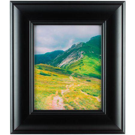 Craig Frames Dakota Wide Modern Black Satin Picture Frame 10x13