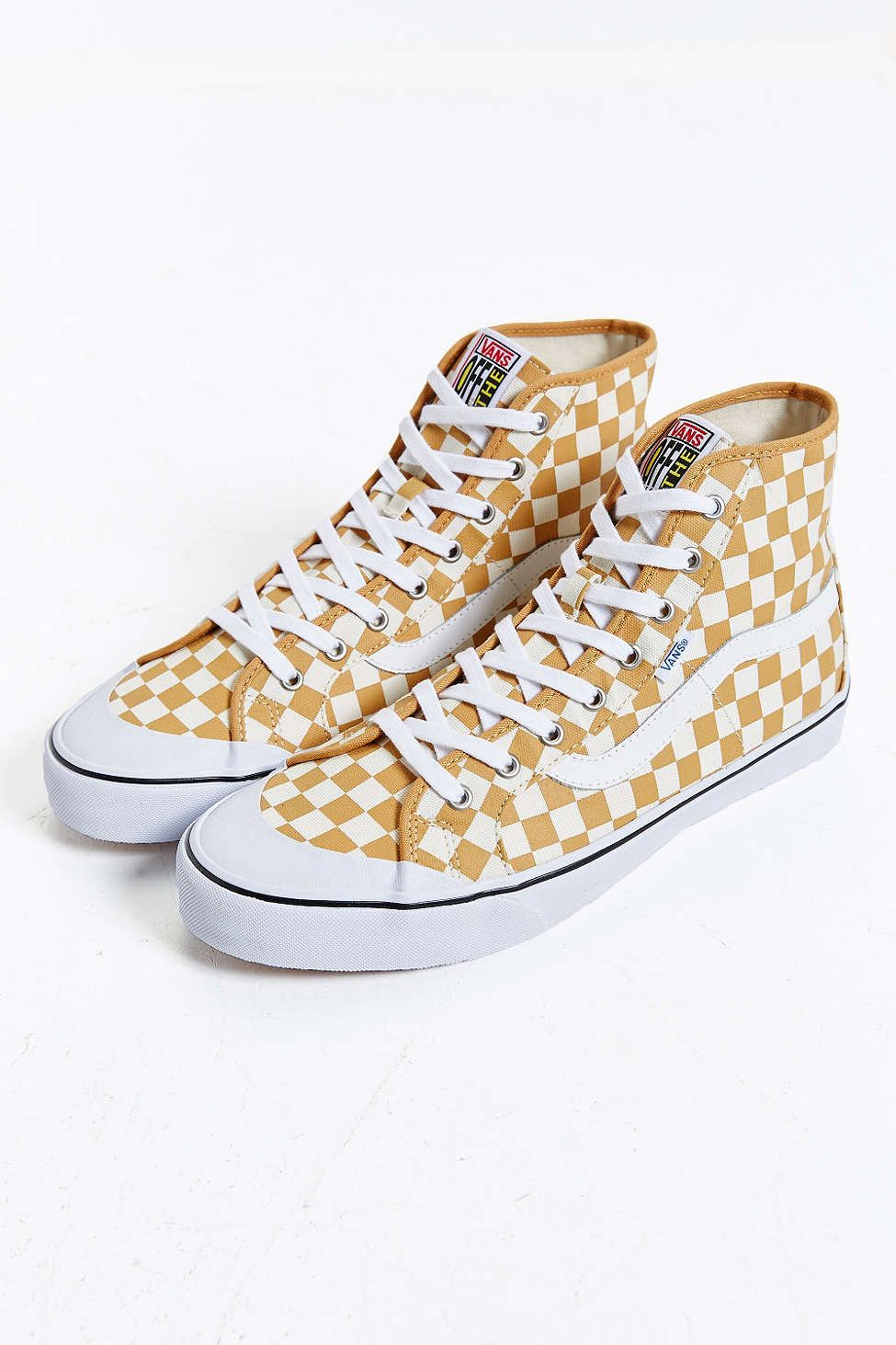 yellow checkerboard vans