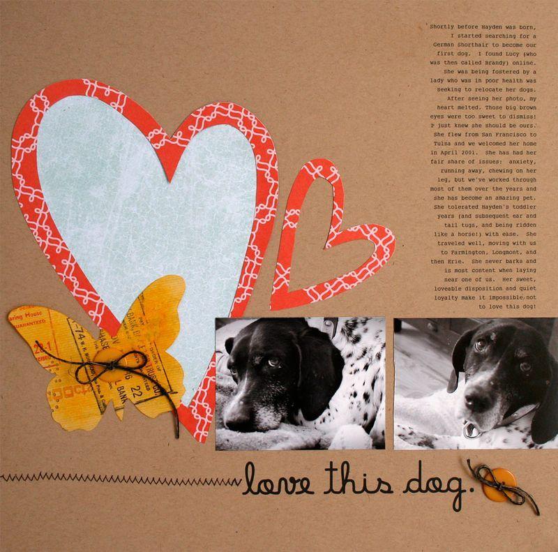 Lovethisdog Lisa Dickinson Dog And Cat Scrapbook Layouts