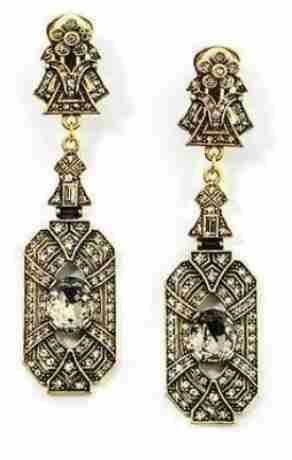 Heidi Daus Art Deco Black Diamond Earrings Ebay Er Swri8346 Jpg 292 460