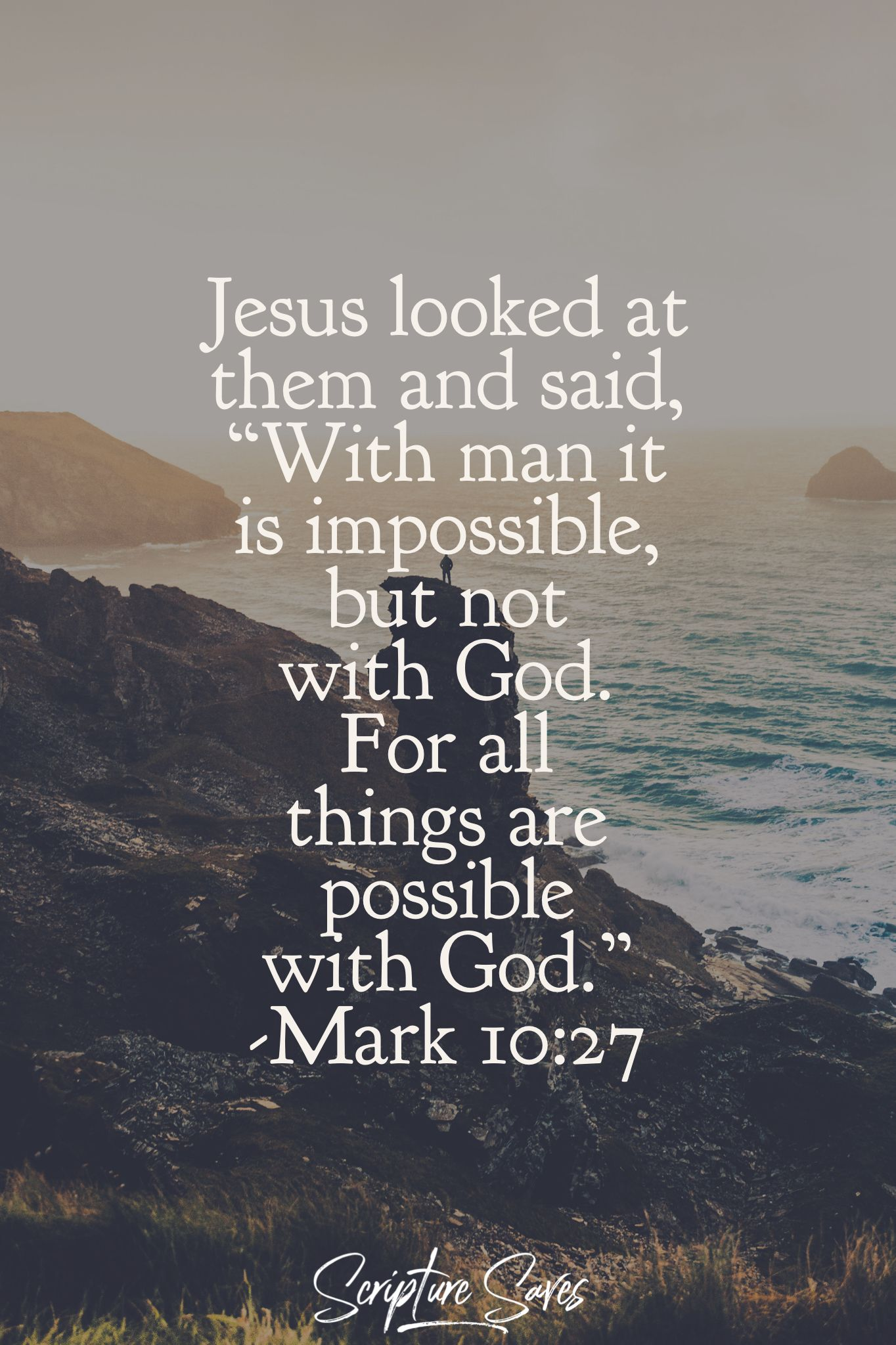Impossible Is Nothing With God With God You Can Accomplish Anything Strength Scripture Quotes Scripture Scripture Quotes