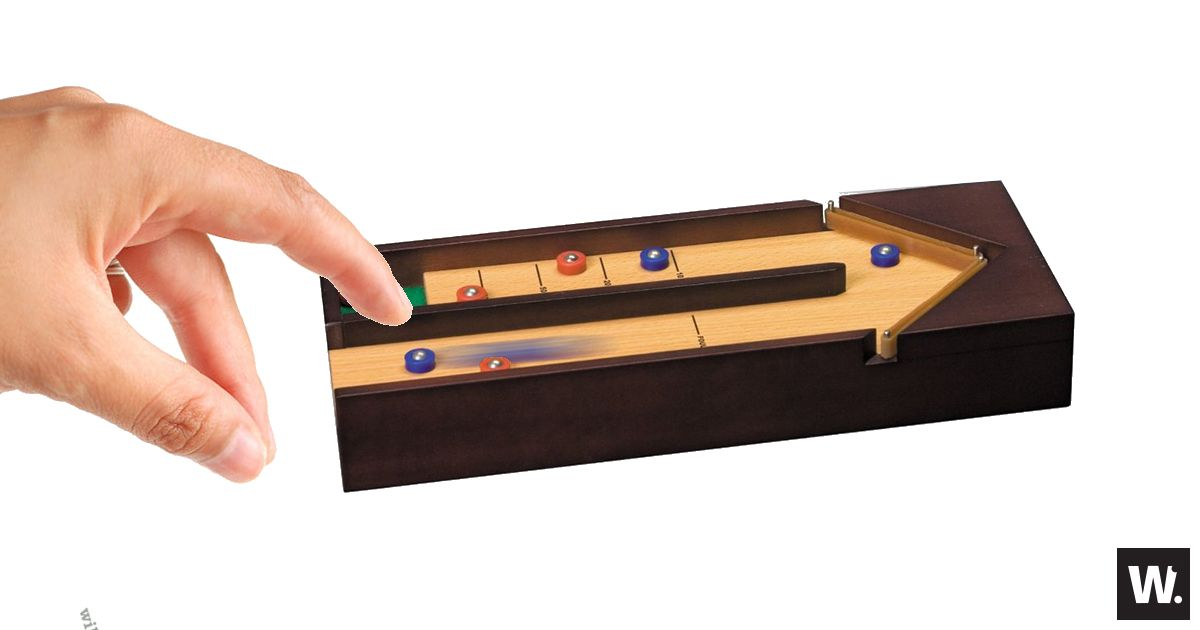 Play Shuffleboard Anywhere with The Desktop Shuffleboard