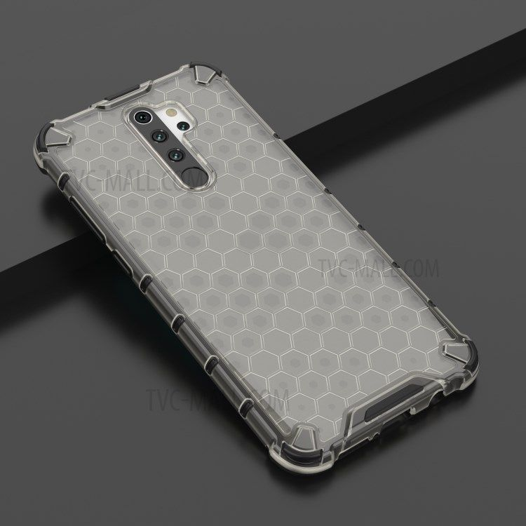Shop Honeycomb Pattern Shock Proof Tpu Pc Hybrid Case For Xiaomi Redmi Note 8 Pro Black From China Honeycomb Pattern Xiaomi Honeycomb