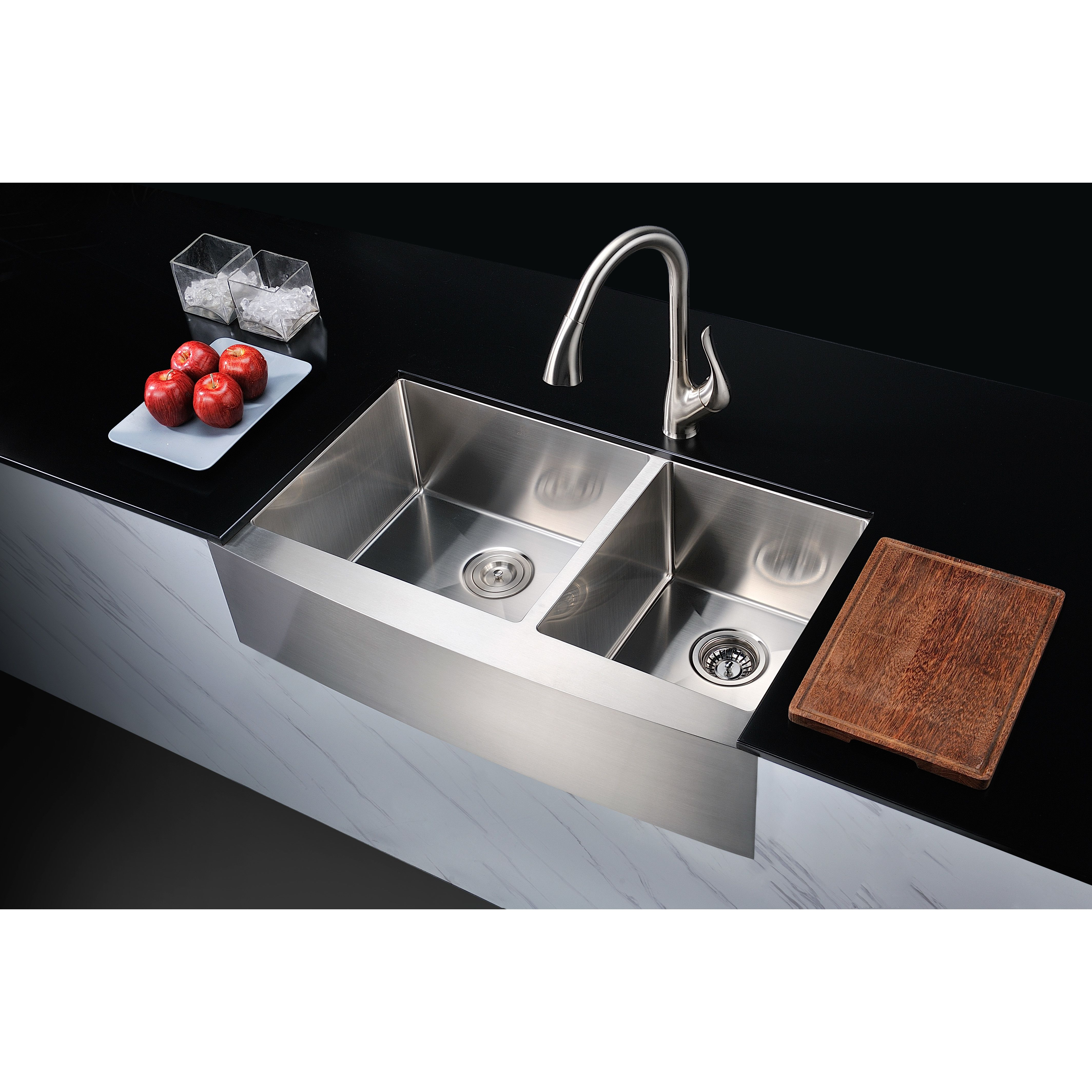 Anzzi elysian 3588 x 2075 double bowl farmhouse kitchen sink anzzi elysian 3588 x 2075 double bowl farmhouse kitchen sink with drain assembly workwithnaturefo