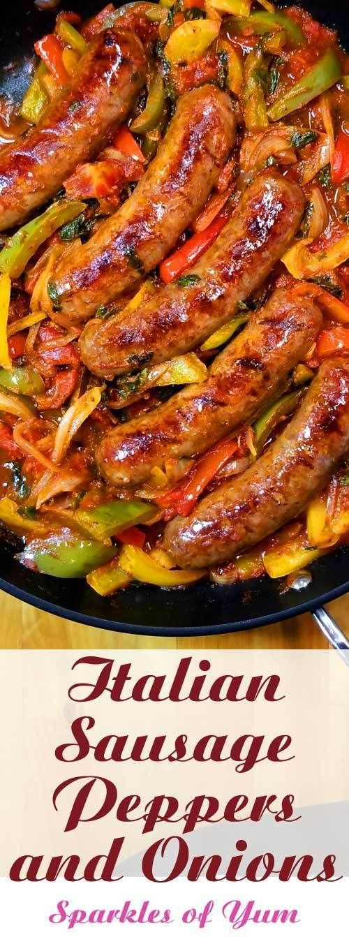 Photo of Italian Sausage Peppers and Onions Recipe