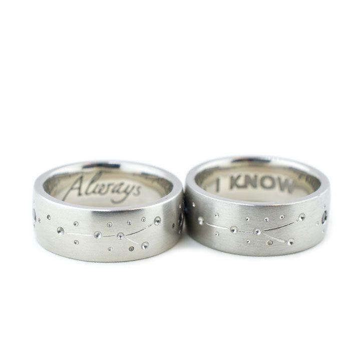 Mens Matching Cosmic Wedding Rings Star Wars Rings Ideas Of Star Wars Rings Starwars Star Wars Wedding Ring Harry Potter Wedding Rings Mens Wedding Bands