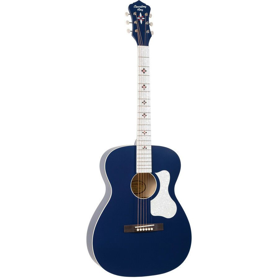 Recording King Century33 Ltd Edition 000 Acoustic Guitar Wabash Blue New Ideas Of Acoustic Guitar Acousticguitar In 2020 Acoustic Guitar Ibanez Guitars Guitar