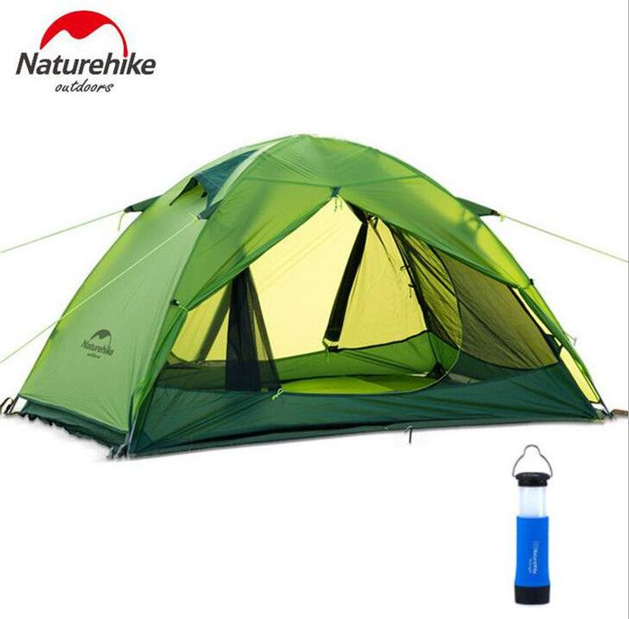 Naturehike 2 Person 4 Season Tent Ultralight Aluminum Rod Anti-UV Windproof Waterproof Double Layer Outdoor Ideal for C&ing Hiking Travel Hunting(Green) ...  sc 1 st  Pinterest & Naturehike Lightweight Camping Tent 2 Person Portable Rainproof ...