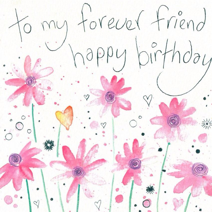 Pin by denise rork on happy birthday pinterest to my forever friend happy birthday greeting card by lyn thompson whistlefish galleries bookmarktalkfo Gallery