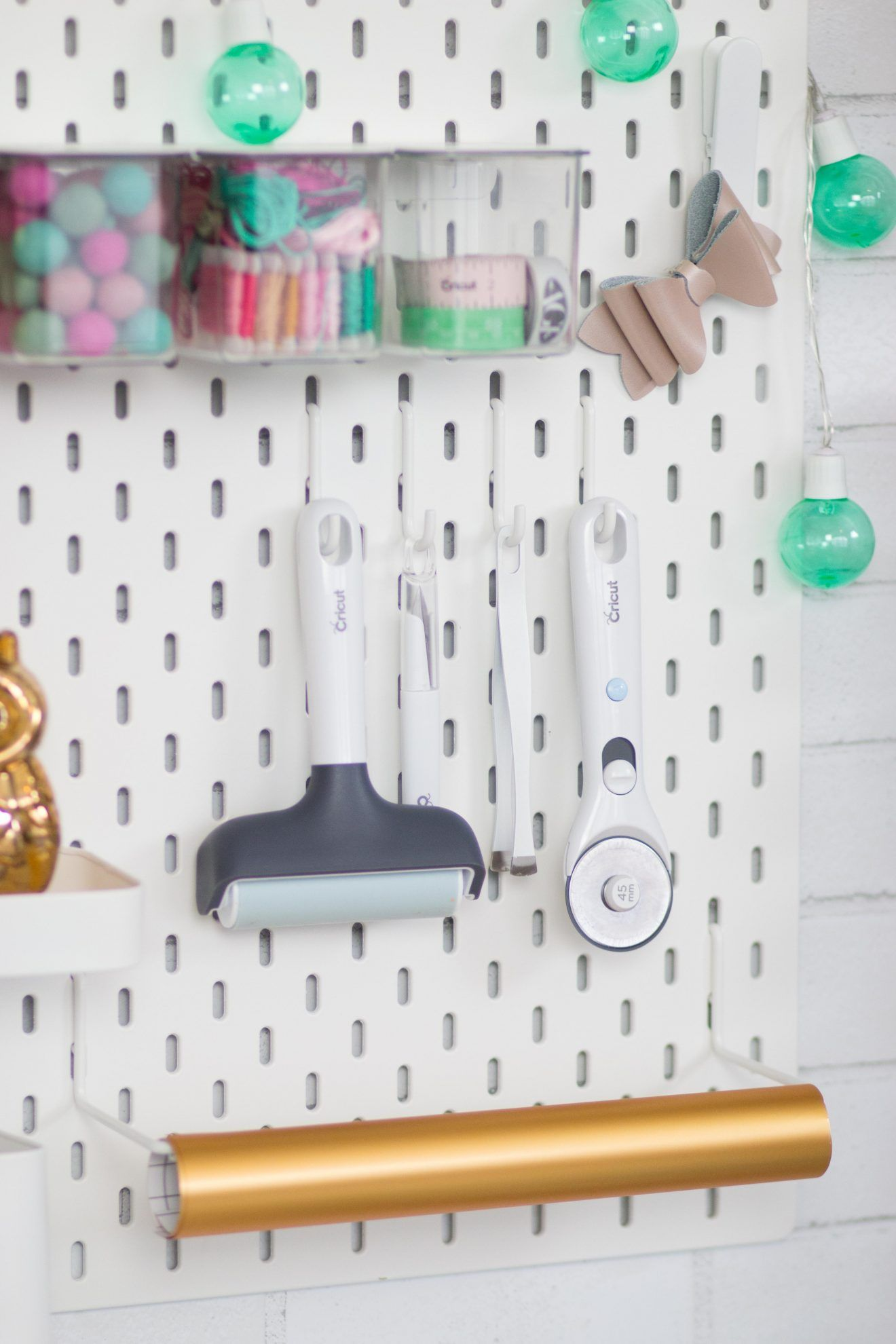 Cricut Craft and Sewing Room Organization Hacks - Sweet Red