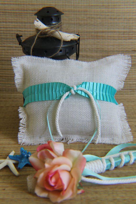 Ring bearer Pillow AND flower girl Wand by BeachWeddingStore, $44.00