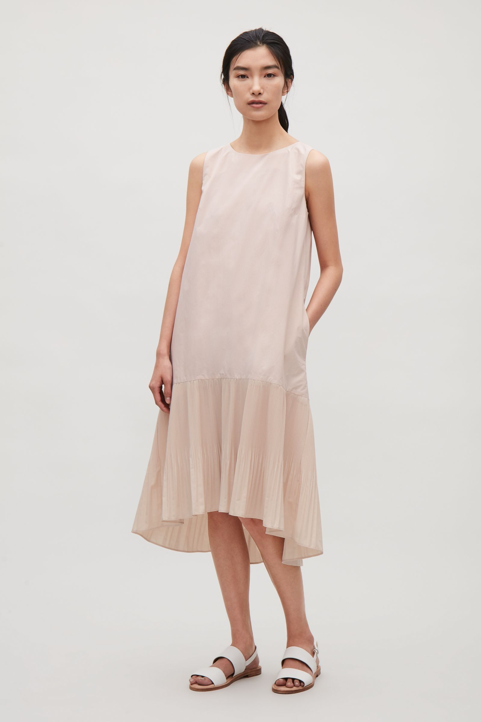 ac48c5998 COS image 1 of Voluminous pleat dress in Rose Pink | party dress ...