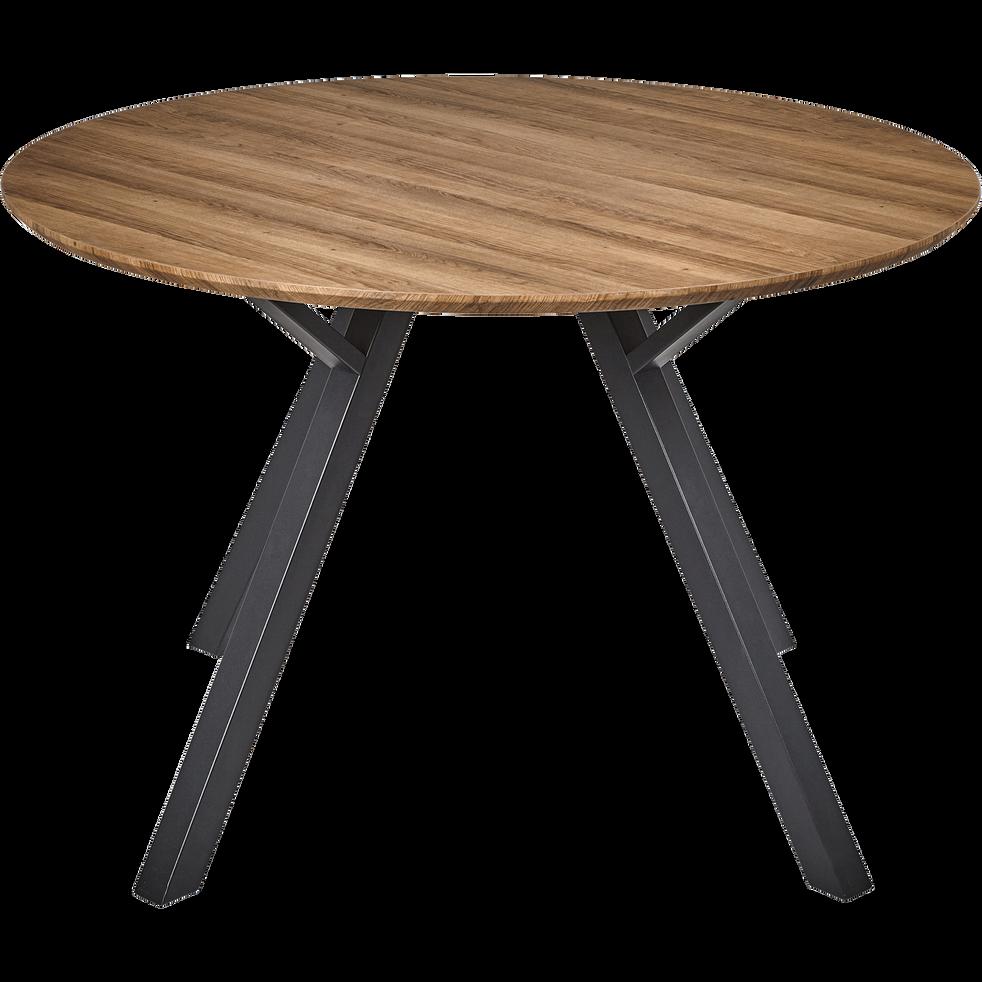 Table De Repas Ronde Effet Chene 6 Places Octavie Tables Alinea En 2020 Table De Repas Ronde Table Repas Table