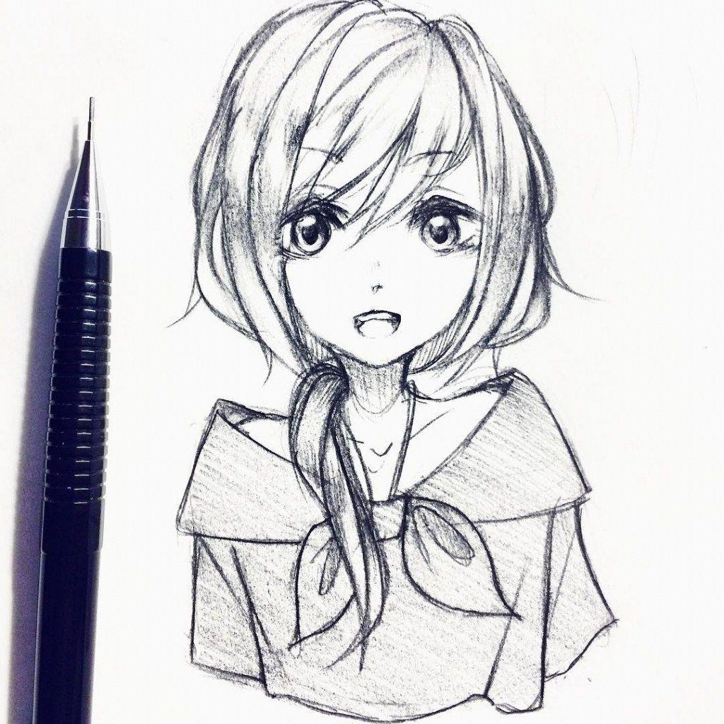 Pin On Cartoon Drawings Anime Sketch