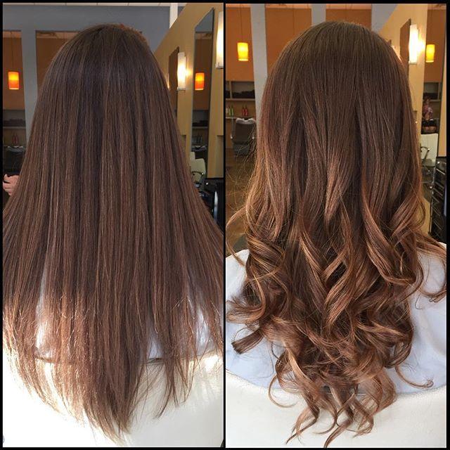 Long Hair, Balayage, medium brown, Hair by Bonnie, Blo Raleigh, NC ...