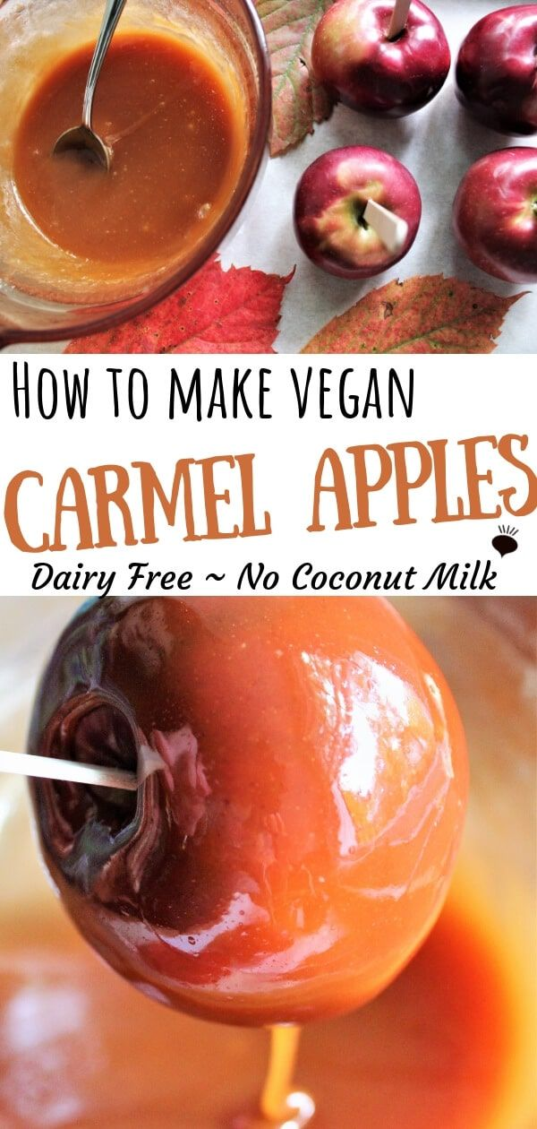 Vegan Caramel Apples #caramelapples