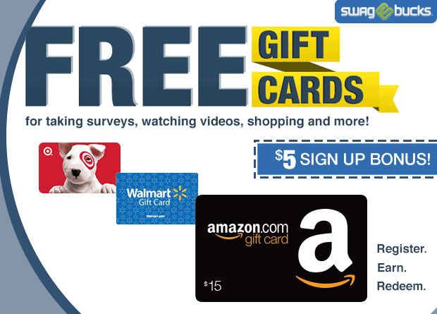 Join Swagbucks To Earn Free Gift Cards To Your Favorite Stores