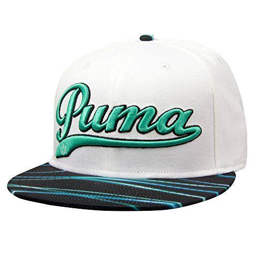 ec9595d4542 ... real new puma script dynamic light bill white pool green adjustable  youth golf hat 0cfd5 ff114 ...