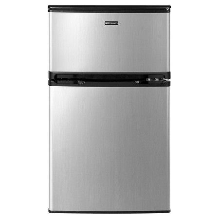 Emerson 3 1 Cu Ft 2 Door Mini Fridge And Freezer Compact Fridge Dorm Fridge Mini Fridge