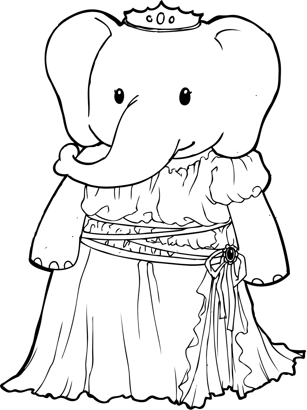Coloring Rocks Elephant Coloring Page Princess Coloring Pages Cartoon Coloring Pages