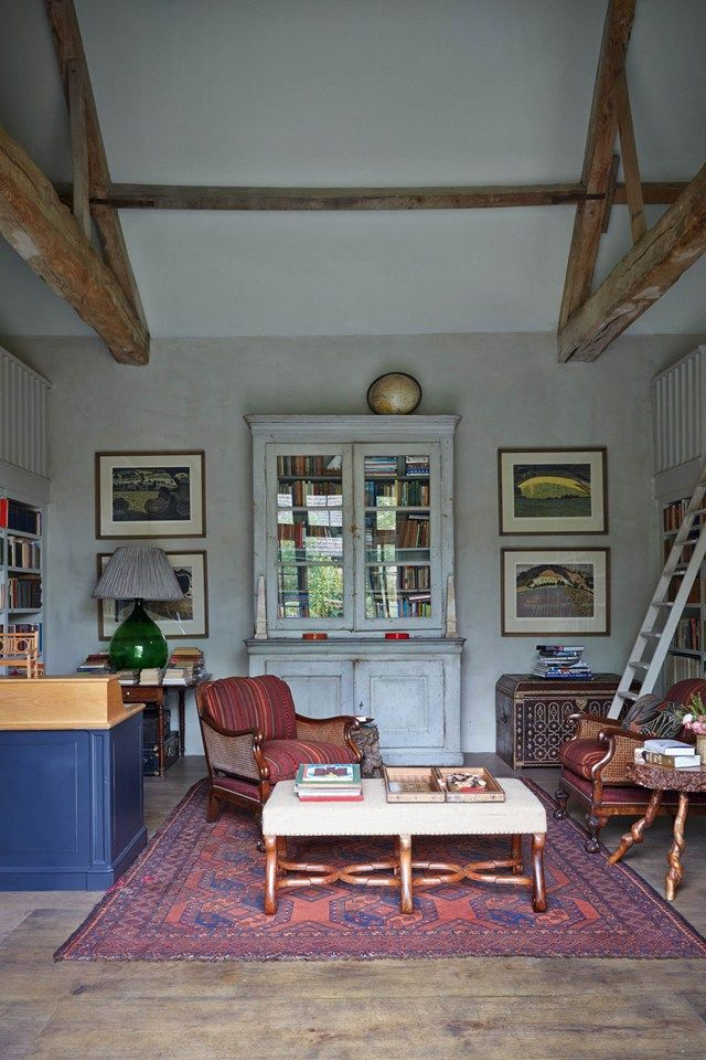 Vintage Living Room Ideas For Small Spaces: A Stone Cottage Filled With Books In The English