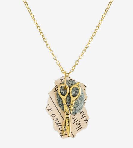 Rock Paper Scissors Necklace By The Bowed Arrow On